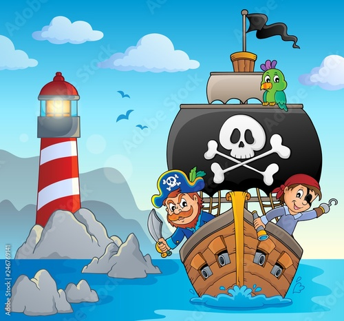 Image with pirate vessel theme 5