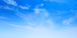 Blue sky with cirrus clouds at daytime
