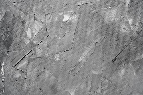 Fototapety, obrazy: Gray seamless stone venetian texture. Concrete Smear Trowel Plaster Handmade Background.