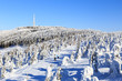 Szczyrk, Polska. Winter at Skrzyczne peak