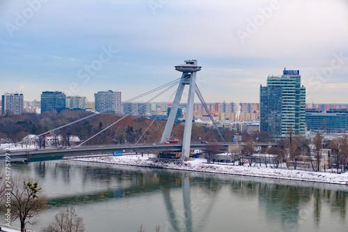 Poster UFO Danube Bridge, UFO Bridge, Bratislava, Slovakia