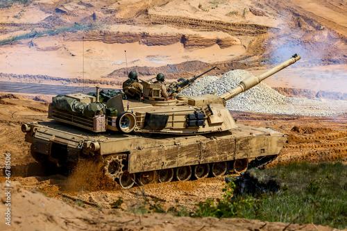 Photo  Tank in military training Saber Strike in Latvia.