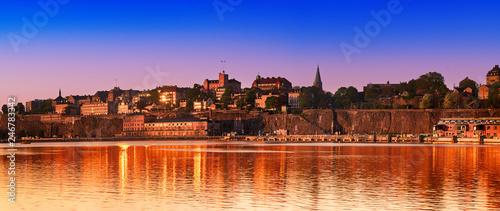 Zdjęcie XXL Sztokholm miasta widok przy wschodem słońca