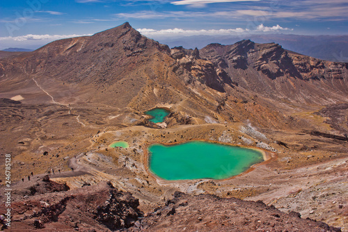 Foto op Plexiglas Oceanië Close-up of Emerald lake in Tongariro NP in New Zealand