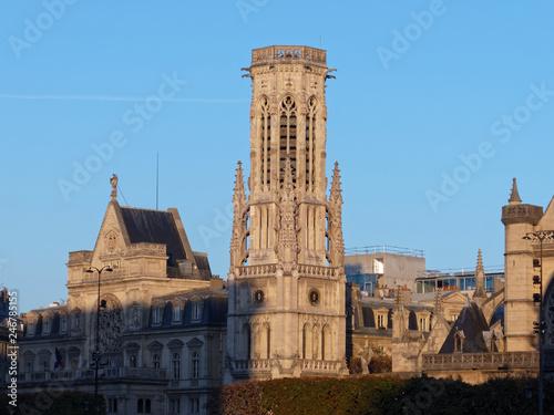 Photo Belfry of Saint-Germain l'Auxerrois church - Paris, France