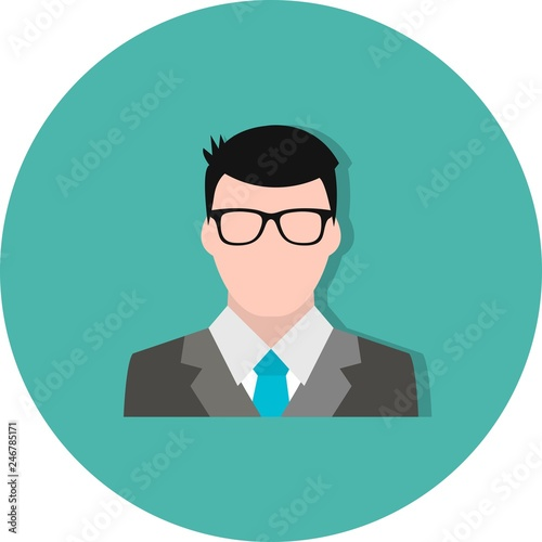 Photographie Vector Banker Icon