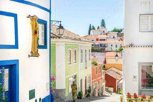 Recess Fitting Mediterranean Europe Portuguese houses in picturesque Monchique, Algarve, Portugal