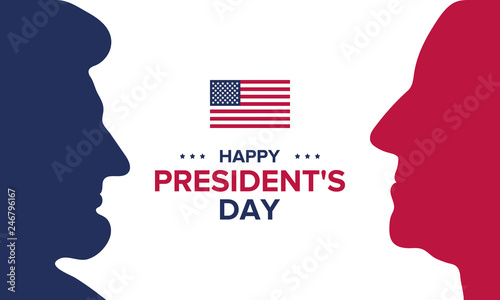 Fototapeta Happy Presidents day in United States