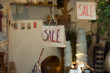 SIgnboard sale in the store