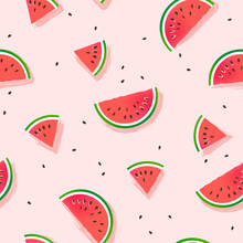 Watermelon Slices Vector Patte...