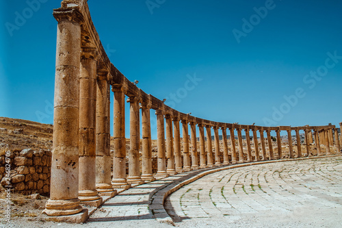 Stampa su Tela  Ancient Jerash ruins,(the Roman ancient city of Geraza), Jordan