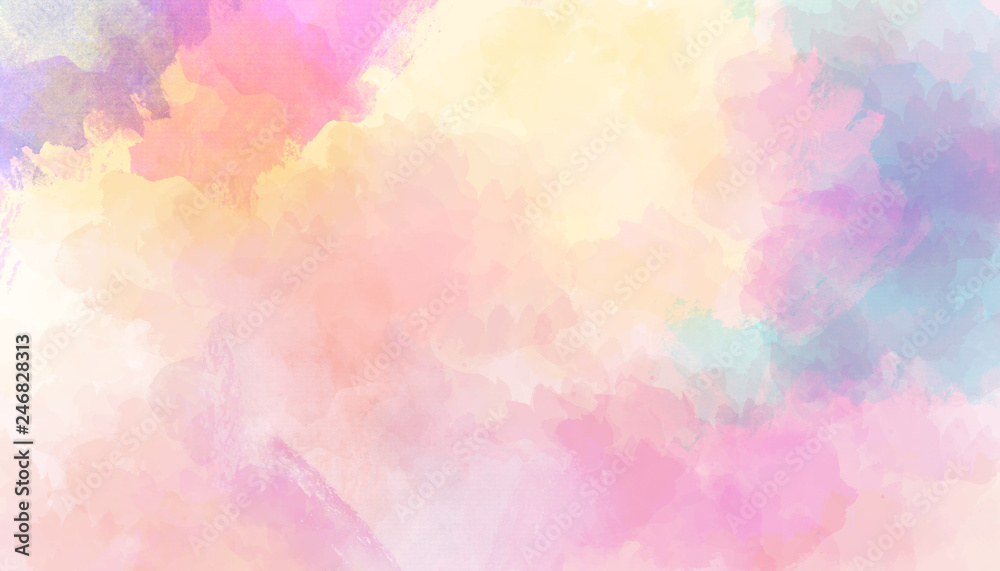 Fototapety, obrazy: Watercolor colorful abstract background