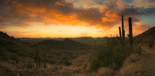 A Panorama Featuring A Sunset ...
