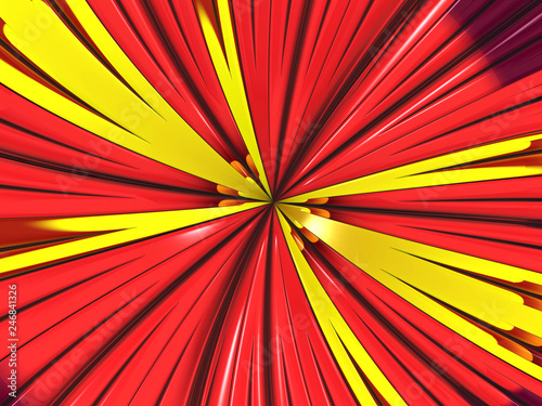 Poster Psychedelic Beautiful abstract swirl for art projects, cards, business, posters. 3D illustration
