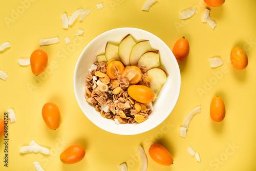 Obraz Healthly vegetarian breakfast - fototapety do salonu