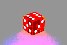 Red Casino Dice - Posterized D...