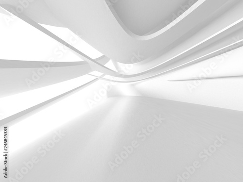 Fotografia  Abstract Modern White Architecture Background