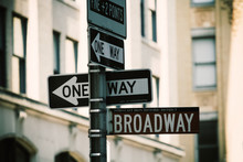 Broadway Street Signs, Manhatt...