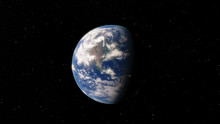 Planet Earth From Space 3D Ill...
