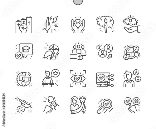 Valokuva  Life skill Well-crafted Pixel Perfect Vector Thin Line Icons 30 2x Grid for Web Graphics and Apps
