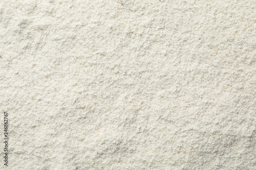 Oat flour as background, top view. Gluten free product