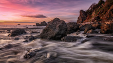 Sunset At A Rocky Pacific Nort...
