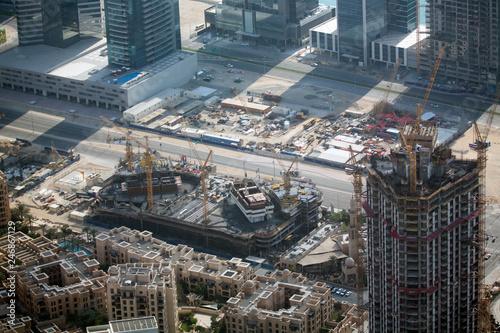 Obraz na płótnie The view from Burj Khalifa in Dubai