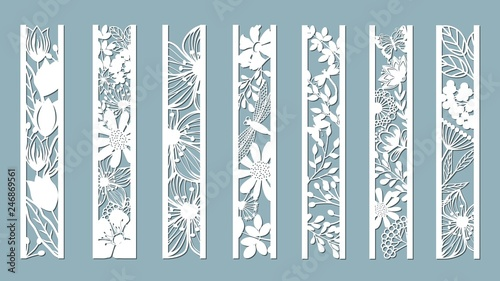 Photo panels with floral pattern