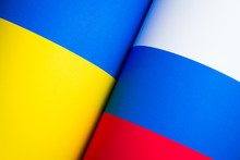 Flags Of Russia And Ukraine