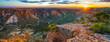 canvas print picture panorama view of sunrise over charles knife canyon, western australia 3