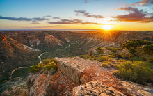 Panorama View Of Sunrise Over Charles Knife Canyon, Western Australia 4