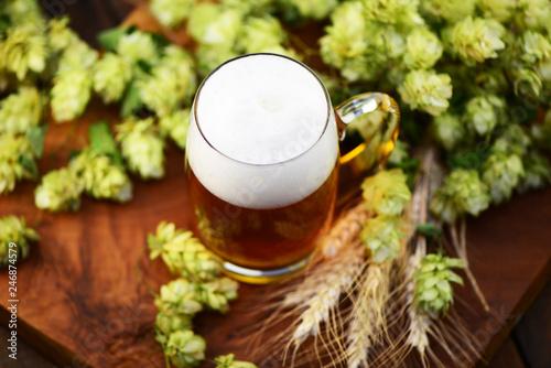 Tuinposter Bier / Cider Bier, Hopfen