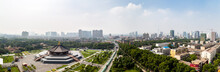 July 2017 - Luoyang, Henan Province, China - Panoramic View From The Top Of Tian Tang, Or Heavenly Hall, At The Sui And Tang Dynasty Luoyang City National Heritage Park