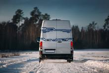 White Cargo Van Ride Very Fast...