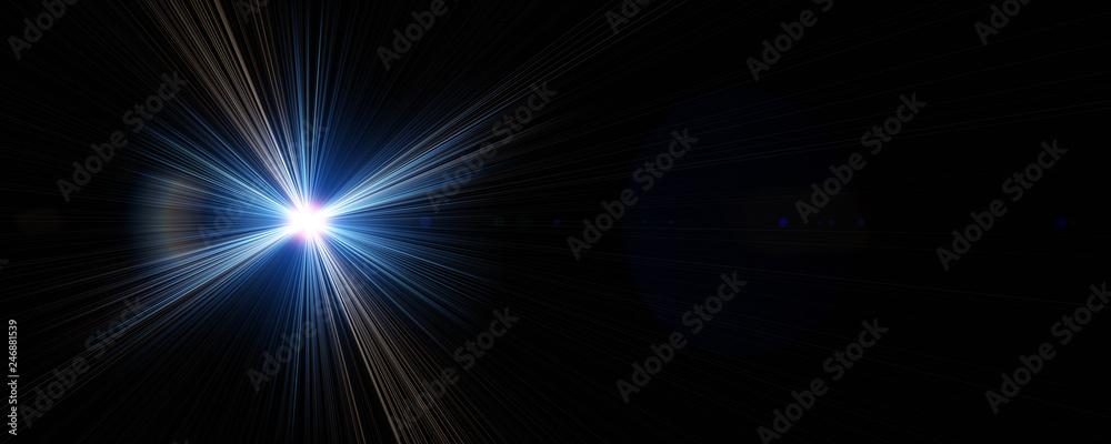 Fototapety, obrazy: Futuristic light flare panorama background design illustration