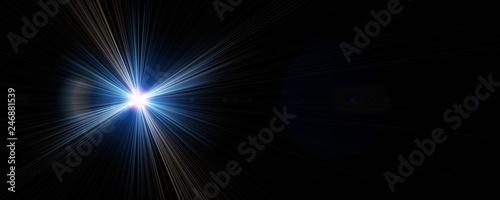 Futuristic light flare panorama background design illustration