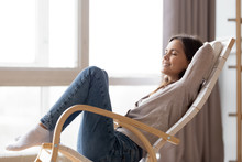 Relaxed Calm Young Woman Loung...