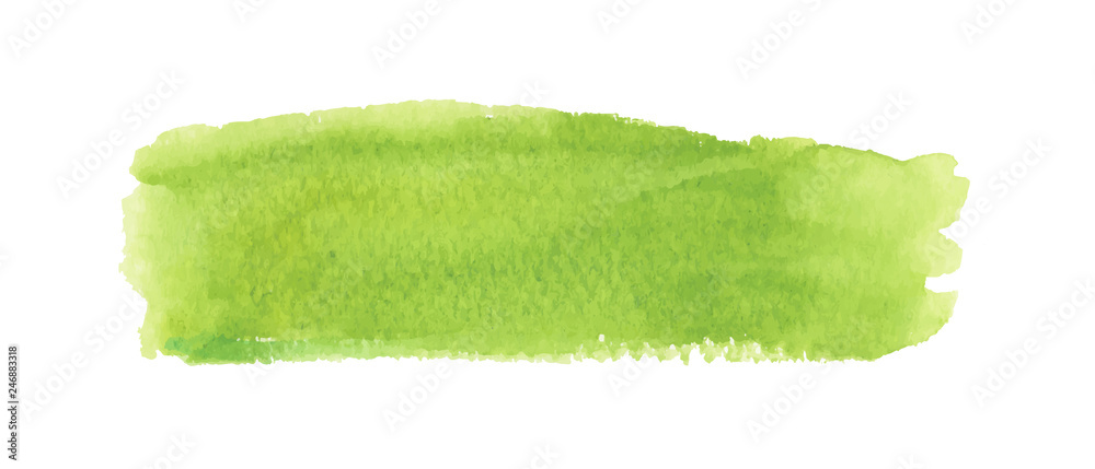 Fototapety, obrazy: Light green watercolor label. Vector illustration.