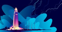 Lighthouse Abstract Banner