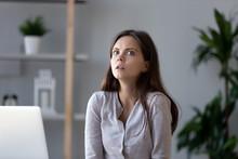 Shocked Female Worker Feeling ...