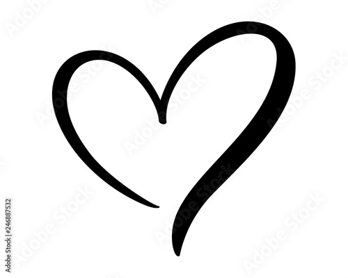 Calligraphic love heart sign Fototapet