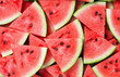 canvas print picture - slice of watermelon as textured background