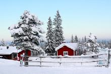 Snowy Dalarna In Sweden