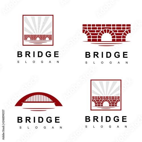 Valokuva Brick Old Bridge Logo