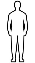 Man Standing Silhouette - Blac...