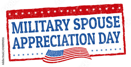 Fotografia  Military spouse day sign or stamp