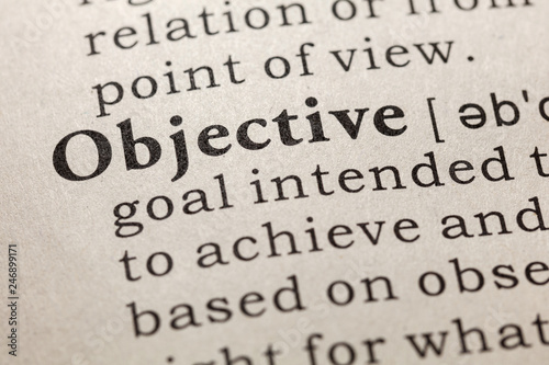 Cuadros en Lienzo definition of objective