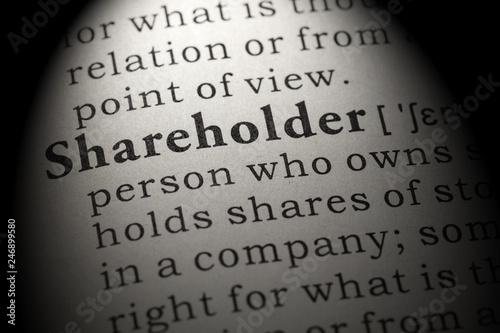Fotografía definition of shareholder