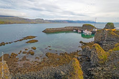 Photo  Quiet Harbor on the Coast of Iceland