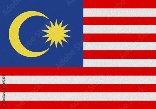 Fotografía  Malaysia paper flag